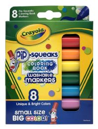 6 Units of Crayola 8 Pip-Squeaks Washable Markers - Markers