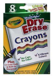 6 Units of Crayola Washable Dry Erase Crayons 8 - Crayon