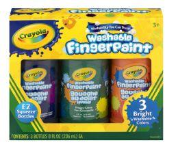 8 Units of Crayola Washable Fingerpaint - Art Paints