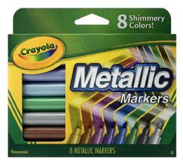 6 Units of Crayola 8 Metallic Markers - Markers