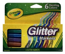 6 Units of Crayola Glitter Markers - Markers