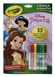 6 Units of Crayola Disney Princess Coloring & Activity Pad - Note Books & Writing Pads