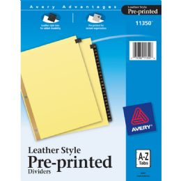 24 Units of Preprinted Lthr Tab Divider - Dividers & Index Cards