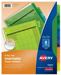 48 Units of 8tab Insertable Plstc Divider - Dividers & Index Cards