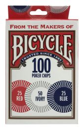 6 Units of Bicycle 100 Poker Chips - Playing Cards, Dice & Poker