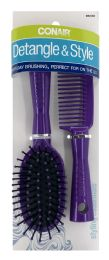 6 Units of Conair Styling Essentials Mid-Size Cushion Brush And Comb Set - Hair Brushes & Combs