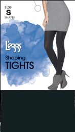 6 Units of Leggs Shape Tights Black A - Womens Pantyhose