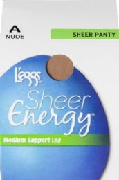 6 Units of Leggs Sheer Energy St Nude A - Womens Thigh High Stocking