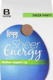 6 Units of Leggs Sheer Energy St Nude B - Womens Thigh High Stocking