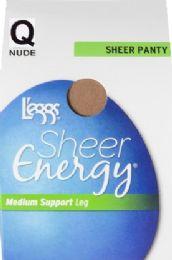 6 Units of Leggs Shr Enrgy Pnty Nude Q - Womens Pantyhose