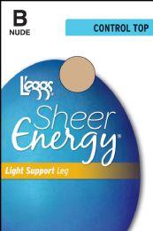 6 Units of Leggs Sheer Energy Rt Nude B - Womens Thigh High Stocking