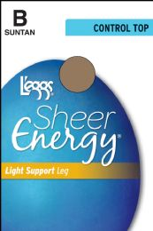 6 Units of Leggs Sheer Energy Ct Suntan B - Womens Thigh High Stocking
