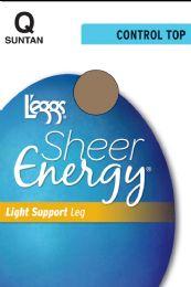 6 Units of Leggs Sheer Energy Ct Suntan Q - Womens Thigh High Stocking