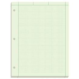 40 Units of Ampad Engineering Computation Pad, Cross-Section Rule (5 X 5), Green Tint Paper - Note Books & Writing Pads