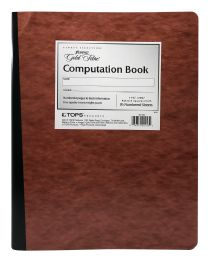20 Units of Ampad Computation Book, Graph Ruled (4 X 4), Red Pressboard Covers, Ivory Paper, 76 Sheets - Note Books & Writing Pads
