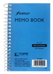 10 Units of Ampad Memo Book, 3 Inch X 5 Inch, Narrow Rule, 50 Sheets - Note Books & Writing Pads