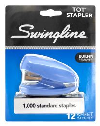 6 Units of Swingline® Tot® Stapler, Built-In Staple Remover, 12 Sheets, Assorted Colors - Staples & Staplers