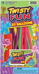 12 Units of Balloons Twisty W/Pump 5.5X10 - Balloons & Balloon Holder
