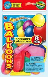 12 Units of 8 Sqawker Balloons - Balloons & Balloon Holder