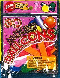12 Units of Balloons Mixed 30Ct 5.5X7 - Balloons & Balloon Holder