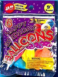12 Units of Balloon 8Ct Happy Birthday - Balloons & Balloon Holder