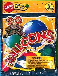 12 Units of Balloons 20 Round - Balloons & Balloon Holder