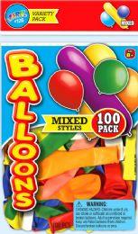 12 Units of Balloon 100Ct Asst 5.75X9 - Balloons & Balloon Holder