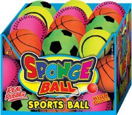 48 Units of Sports Spongeball Asst 24/dply - Seasonal Items
