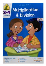 6 Units of School Zone Multiplication & Division Book Ages 8-10 - Books