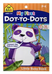6 Units of School Zone My First DoT-TO-Dots Little Busy Book - Books
