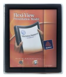 24 Units of Avery Flexi-View 1/2 Inch Binder, 1/2 Inch Round Rings, 100-Sheet Capacity, Navy Blue - Binders