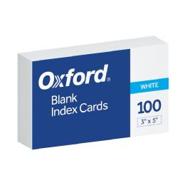10 Units of Oxford Blank Index Cards, 3 Inch X 5 Inch, White, 100 Per Pack - Dividers & Index Cards