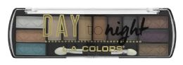 6 Units of L.a. Colors Day To Night 12 Color Eyeshadow Palette, Sunset Ces425 - Eye Shadow & Mascara