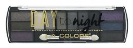 6 Units of L.a. Colors Day To Night 12 Color Eyeshadow Palette, Ces426 Nightfall - Eye Shadow & Mascara