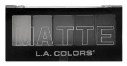 12 Units of L.a. Colors 5 Color Matte Eyeshadow Cem475 Black Lace - Eye Shadow & Mascara