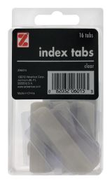 12 Units of Z International Index Tabs, Clear, 16 Tabs - Dividers & Index Cards