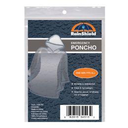 12 Units of Chaby Rainshield Emergency Poncho Ra5100 - Umbrellas & Rain Gear
