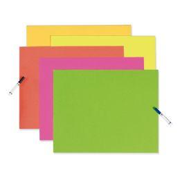 50 Units of Posterboard 22X28 Neon Asstclr - Poster & Foam Boards