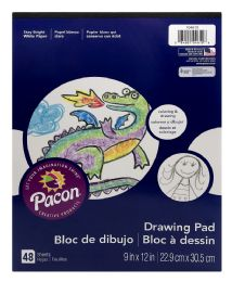 12 Units of Pacon Drawing Pad Stay Bright White Paper - Note Books & Writing Pads