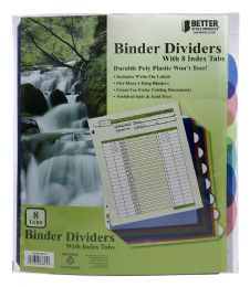 24 Units of Better Office Products Binder Dividers With 8 Index Tabs - Binders