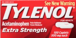 6 Units of Tylenol Ext Strng Caplets 100S - Pain and Allergy Relief