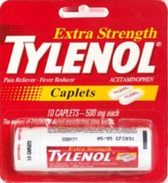 12 Units of Tylenol X/S Caplet Vial 10S - Pain and Allergy Relief
