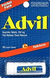 24 Units of Try pck Advil 10Ct Tab - Pain and Allergy Relief