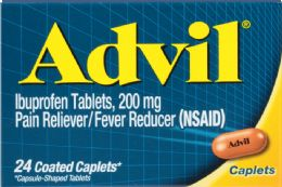 12 Units of Advil Caplets 24'S - Pain and Allergy Relief