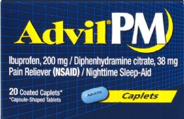 6 Units of Advil Pm Caplets 20Ct - Pain and Allergy Relief