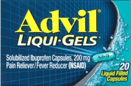 6 Units of Advil Liqui Gels 20 Ct - Pain and Allergy Relief