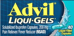 6 Units of Advil Liqui Gels 40 Ct - Pain and Allergy Relief