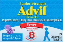 6 Units of Advil Child Jr Chwbl 24Ct - Pain and Allergy Relief