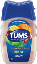 12 Units of Tums Ex Str Flavored 48'S - Medical Supply
