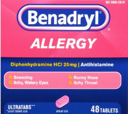 8 Units of Benadryl 25mg Tablet 48 S - Medical Supply